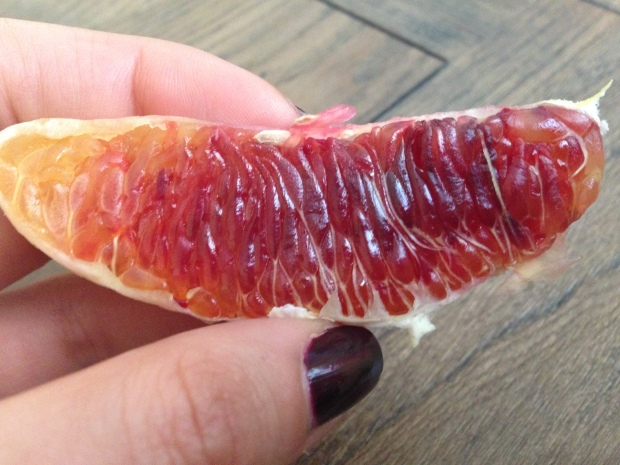 A blood orange up close and personal!