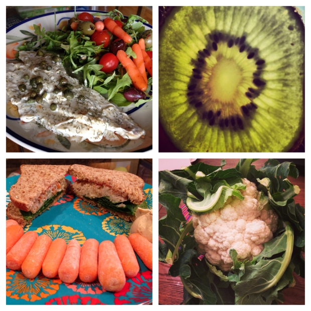 A healthy diet is one that includes mostly whole, non-processed foods, as shown in these photos.