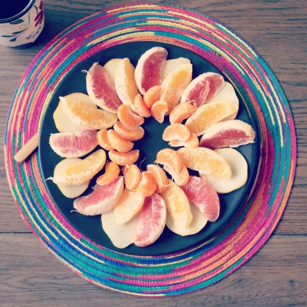 Citrus fruit salad is not only fun to eat but visually appealing as well!
