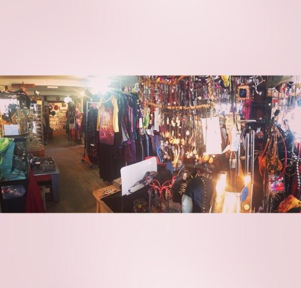 Inside a thrift store.